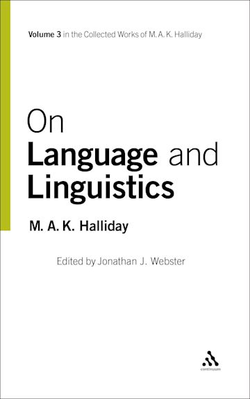 On Language and Linguistics cover