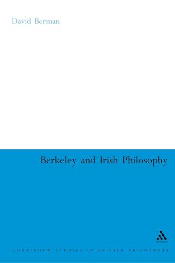 Berkeley and Irish Philosophy cover