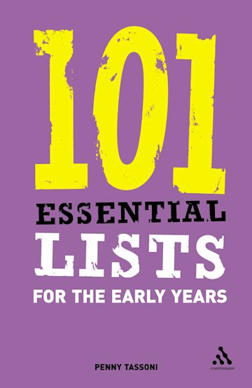 101 Essential Lists for the Early Years cover