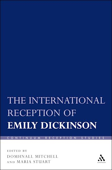 The International Reception of Emily Dickinson cover