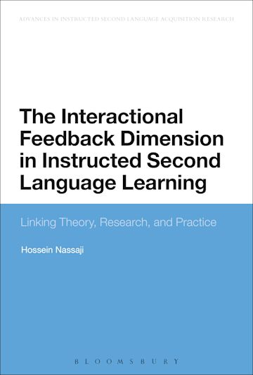 The Interactional Feedback Dimension in Instructed Second Language Learning cover