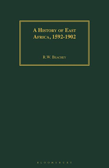 A History of East Africa, 1592-1902 cover