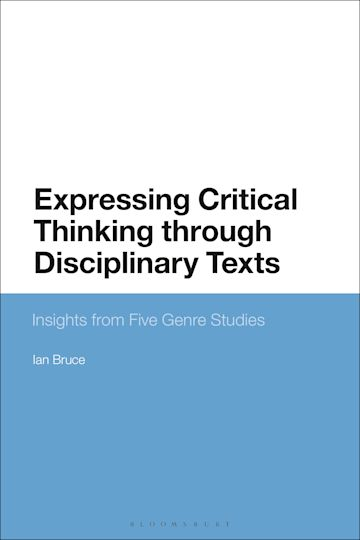 Expressing Critical Thinking through Disciplinary Texts cover