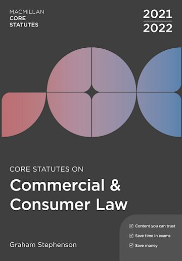 Core Statutes on Commercial & Consumer Law 2021-22 cover