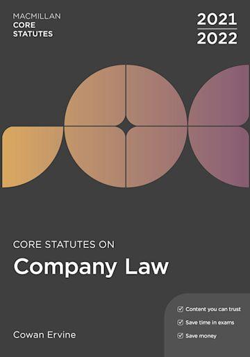 Core Statutes on Company Law 2021-22 cover