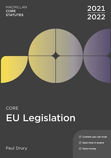 Core EU Legislation 2021-22 cover