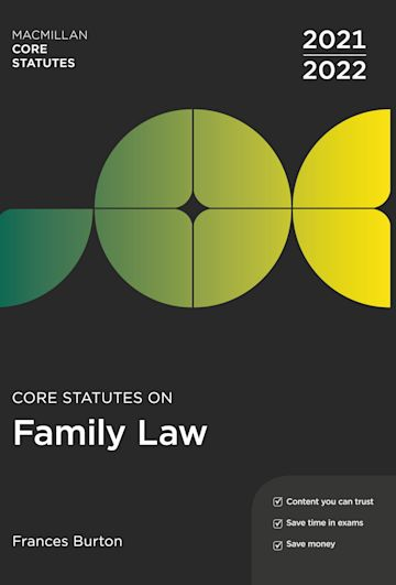 Core Statutes on Family Law 2021-22 cover