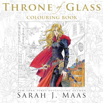 The Throne of Glass Colouring Book cover