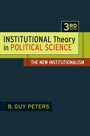 Institutional Theory in Political Science cover