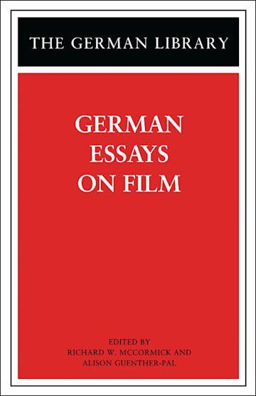 German Essays on Film cover