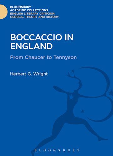 Boccaccio in England cover