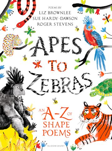 Apes to Zebras: An A-Z of Shape Poems cover