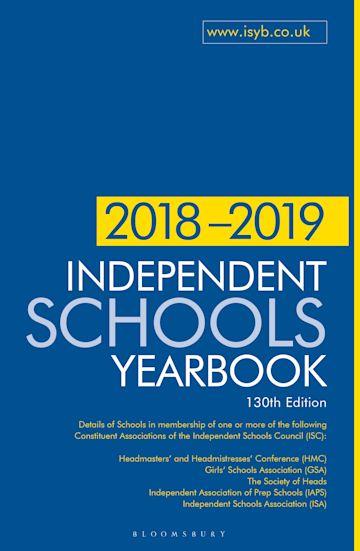 Independent Schools Yearbook 2018-2019 cover
