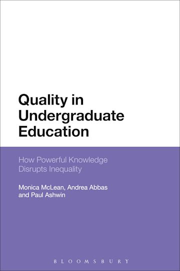Quality in Undergraduate Education cover