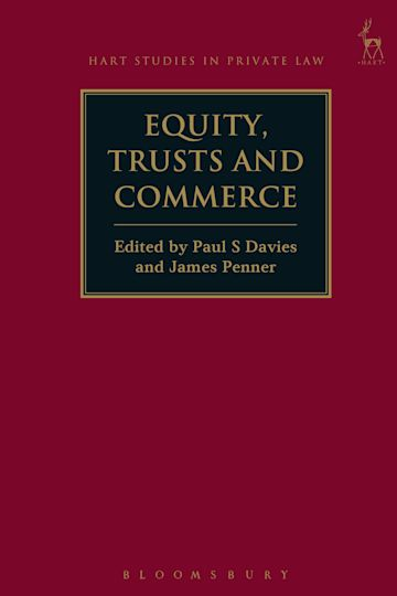 Equity, Trusts and Commerce cover