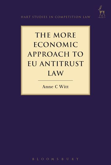 The More Economic Approach to EU Antitrust Law cover