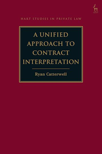 A Unified Approach to Contract Interpretation cover