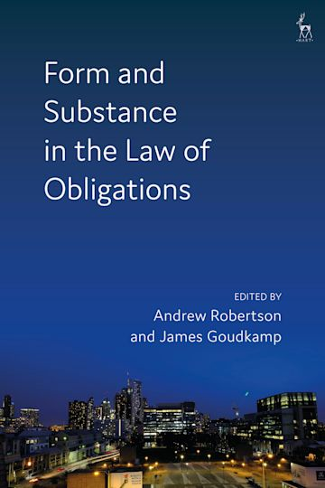Form and Substance in the Law of Obligations cover