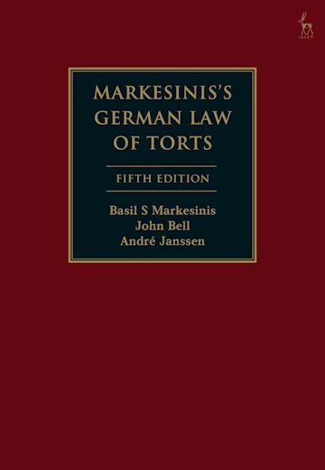 Markesinis's German Law of Torts cover