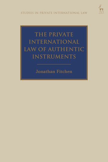 The Private International Law of Authentic Instruments cover