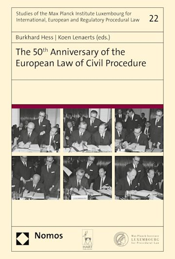 The 50th Anniversary of the European Law of Civil Procedure cover