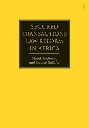 Secured Transactions Law Reform in Africa cover