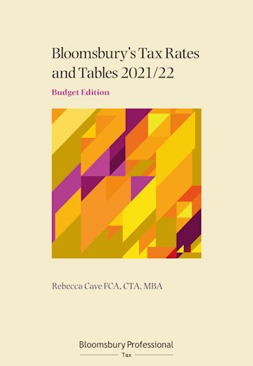 Tax Rates and Tables 2021/22: Budget Edition cover