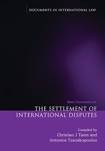 The Settlement of International Disputes cover