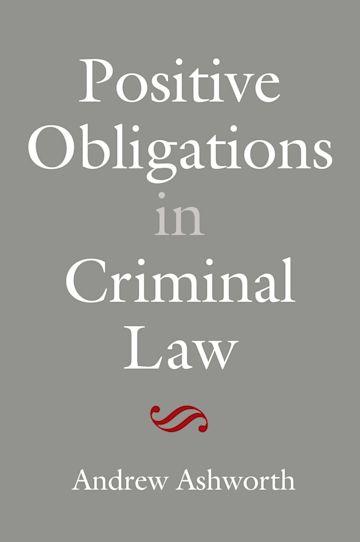Positive Obligations in Criminal Law cover