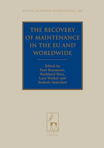 The Recovery of Maintenance in the EU and Worldwide cover
