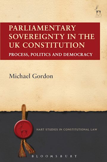 Parliamentary Sovereignty in the UK Constitution cover