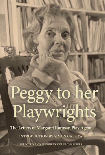 Peggy to her Playwrights cover