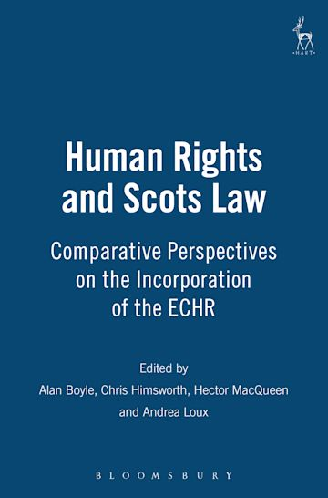 Human Rights and Scots Law cover