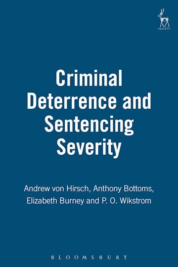 Criminal Deterrence and Sentencing Severity cover