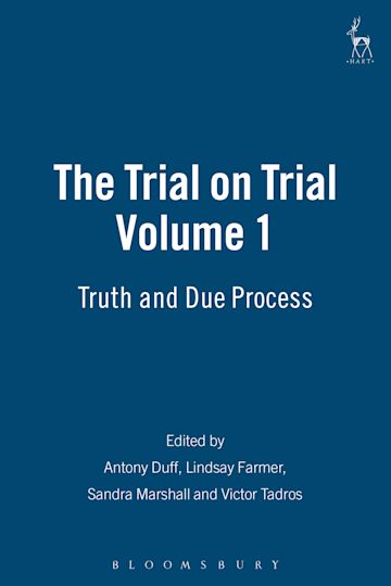 The Trial on Trial: Volume 1 cover