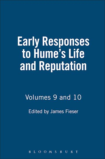 Early Responses to Hume's Life And Reputation cover