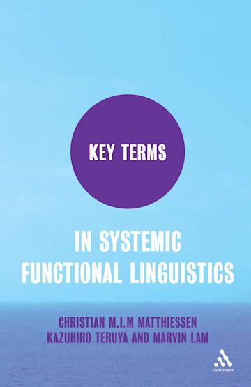 Key Terms in Systemic Functional Linguistics cover
