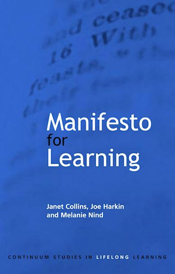 Manifesto for Learning cover