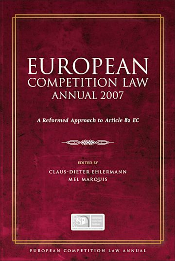 European Competition Law Annual 2007 cover