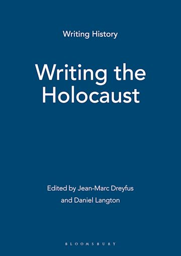 Writing the Holocaust cover