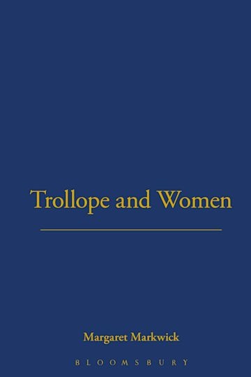 Trollope and Women cover