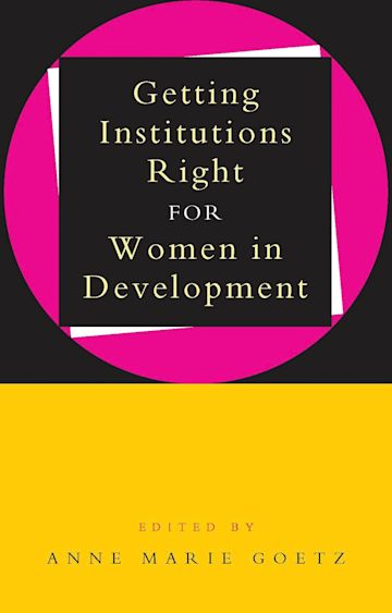 Getting Institutions Right for Women in Development cover