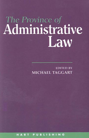 The Province of Administrative Law cover