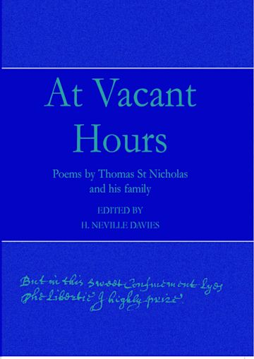 At Vacant Hours cover
