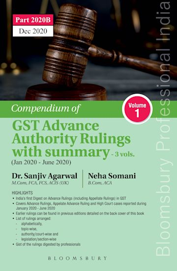 Compendium of GST Advance Authority Rulings with Summary - Including Appellate Rulings cover
