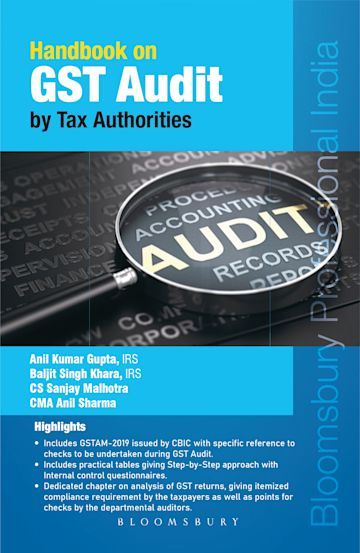 Handbook on GST Audit by tax authorities cover