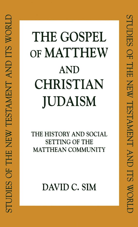 The Gospel of Matthew and Christian Judaism cover