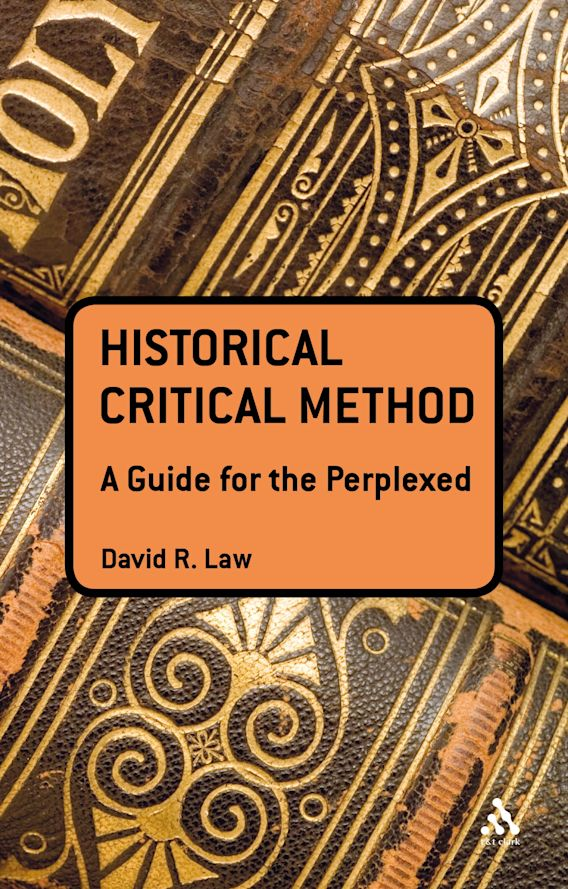 The Historical-Critical Method: A Guide for the Perplexed cover