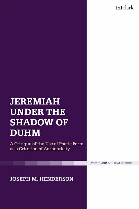 Jeremiah Under the Shadow of Duhm cover