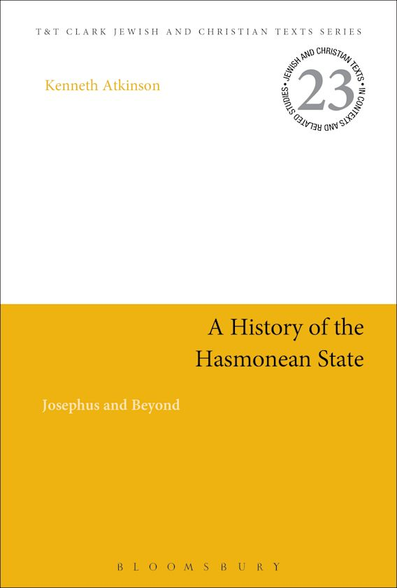 A History of the Hasmonean State cover